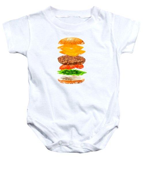 Brazilian Salad Cheeseburger Baby Onesie