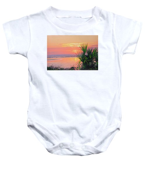 Breach Inlet Sunrise Palmetto  Baby Onesie