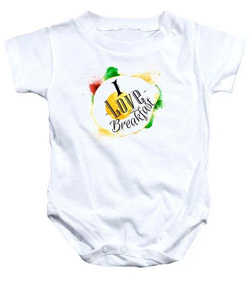 I Love Breakfast Baby Onesie by Aloke Creative Store