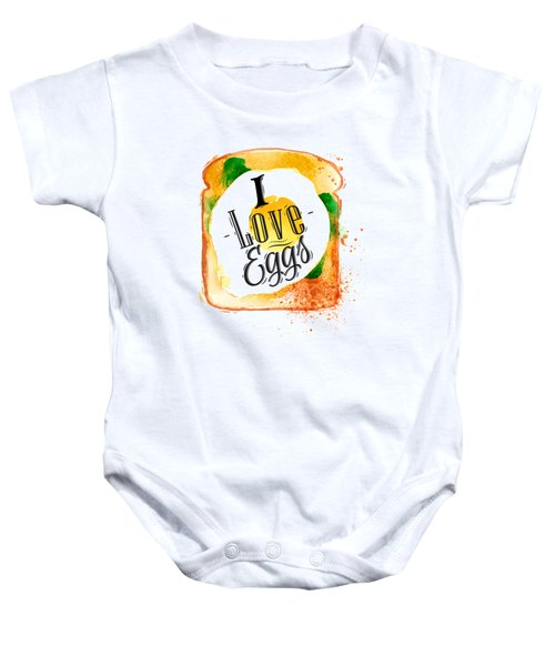I Love Eggs Baby Onesie by Aloke Creative Store