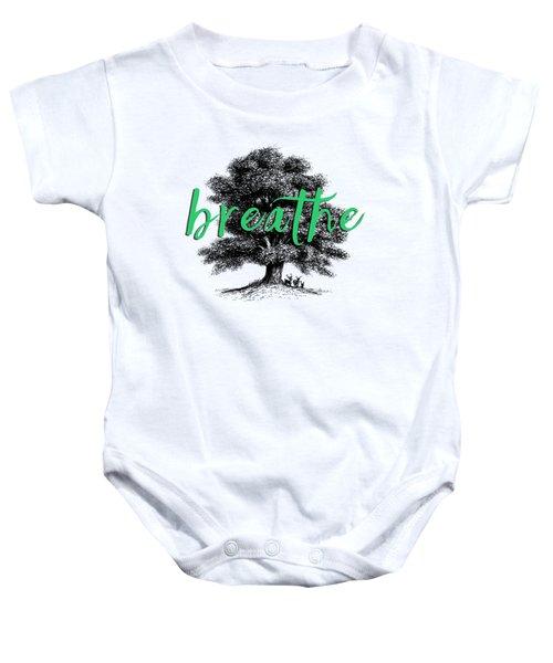 Breathe Shirt Baby Onesie by Edward Fielding