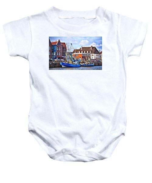 Bremerhaven Harbor, Germany Baby Onesie