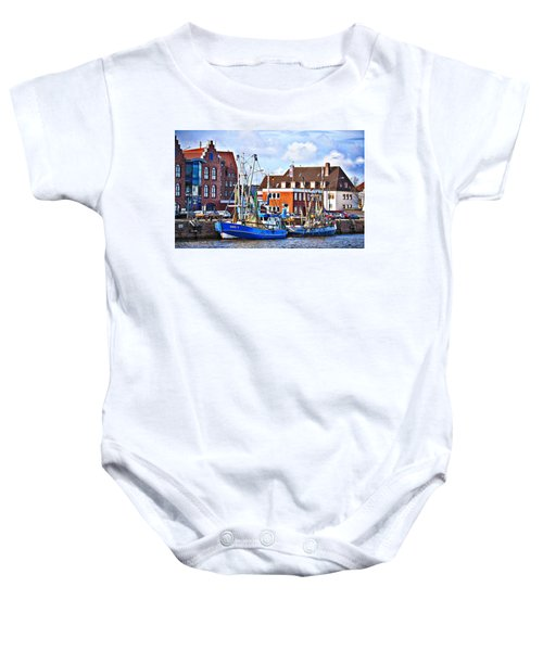 Bremerhaven Harbor, Germany Baby Onesie
