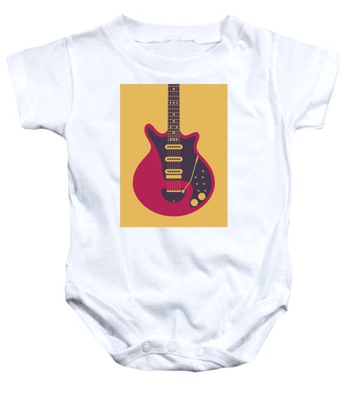 Red Special Guitar - Gold Baby Onesie