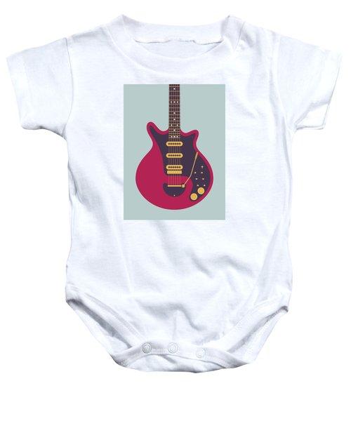 Red Special Guitar - Grey Baby Onesie