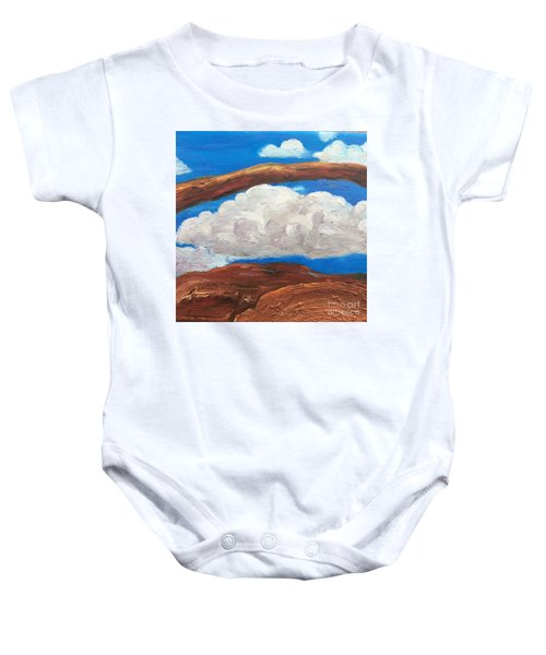 Bridge Over Clouds Baby Onesie