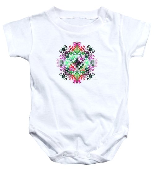 Bright Pattern Art - Color Fusion Design 9 By Sharon Cummings Baby Onesie