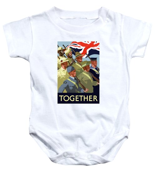 British Empire Soldiers Together Baby Onesie