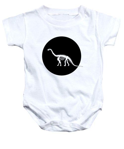 Brontosaurus Skeleton Baby Onesie