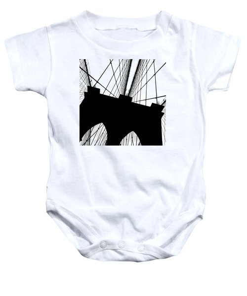 Brooklyn Bridge Architectural View Baby Onesie