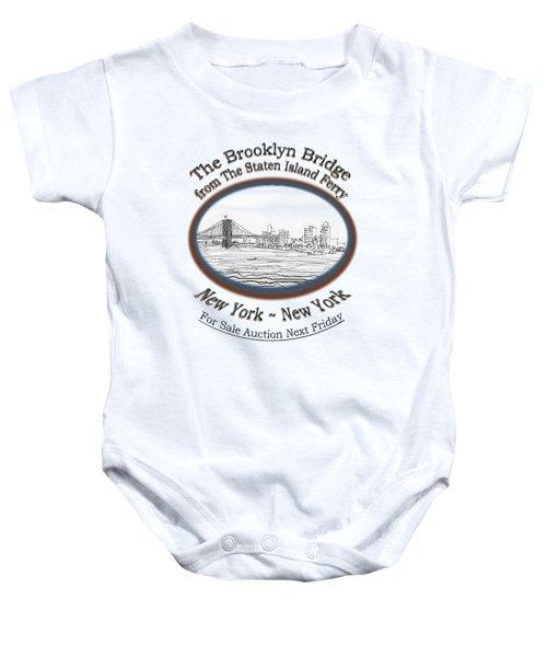 Brooklyn Bridge Baby Onesie by James Lewis Hamilton