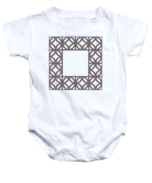 Brown Circles And Squares Baby Onesie