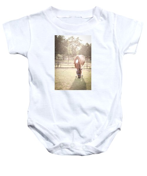 Brown Horse In A Pasture Baby Onesie
