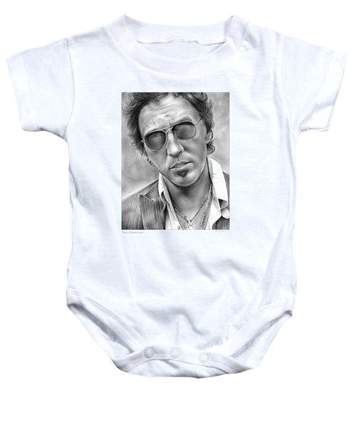 Bruce Springsteen Baby Onesie by Greg Joens