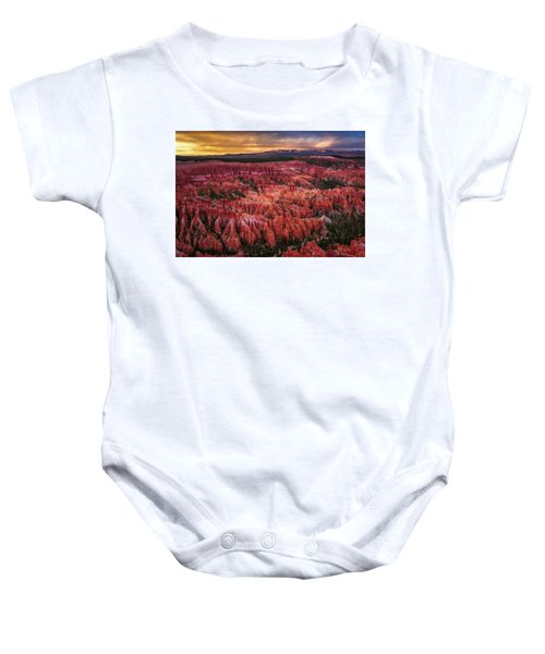 Bryce Canyon In The Glow Of Sunset Baby Onesie