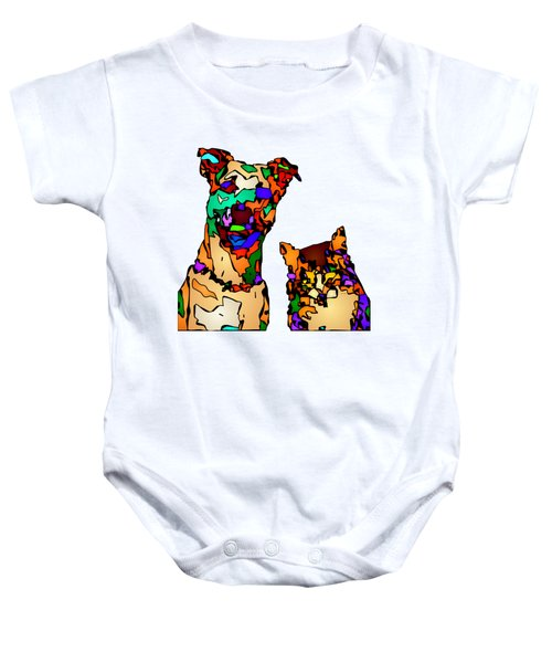 Buddies For Life. Pet Series Baby Onesie