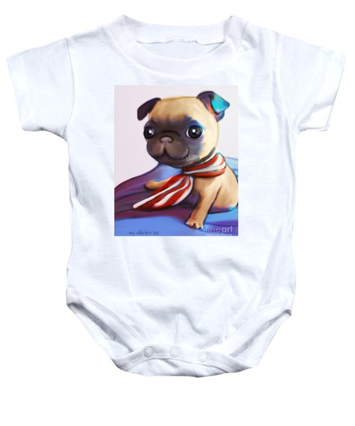 Buddy The Pug Baby Onesie