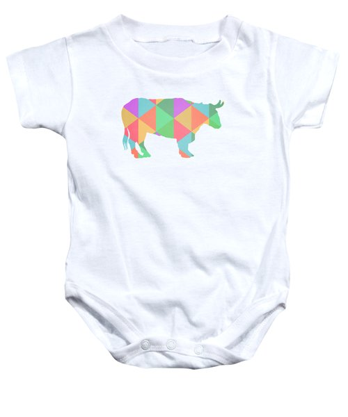 Bull Cow Triangles Baby Onesie by Edward Fielding