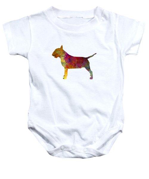 Bull Terrier In Watercolor Baby Onesie by Pablo Romero