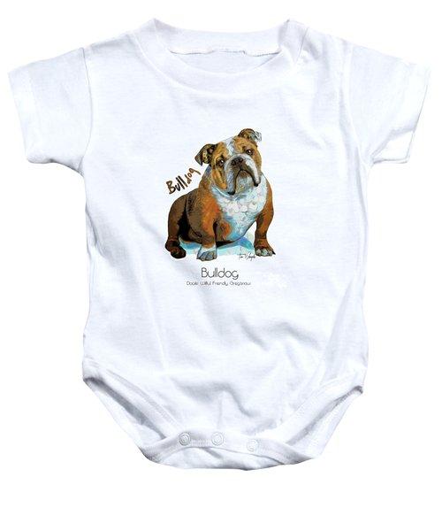 Bulldog Pop Art Baby Onesie
