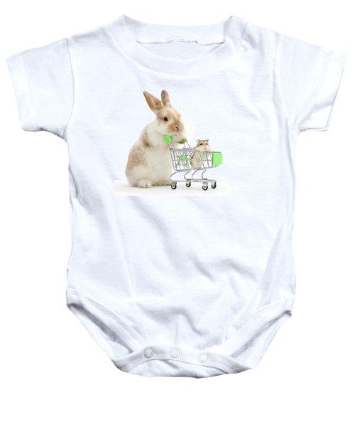 Bunny Shopping Baby Onesie