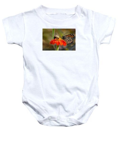 Butterfly And Bumble Bee Baby Onesie