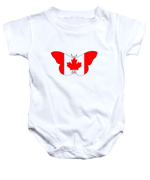 Butterfly Canada  Baby Onesie by Mordax Furittus