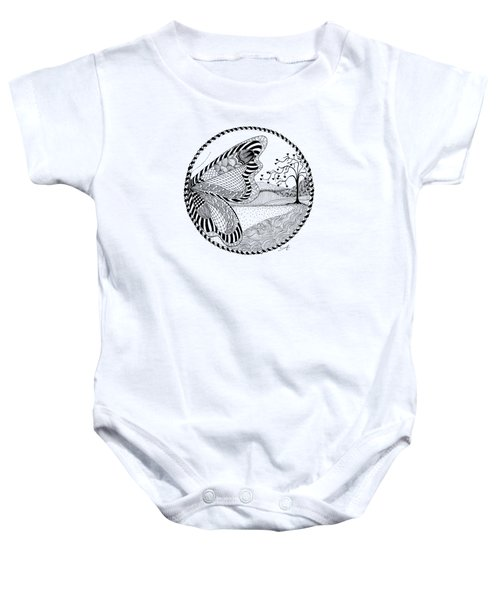 Baby Onesie featuring the drawing Butterfly Fantasy by Ana V Ramirez