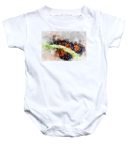Butterfly Watercolor Baby Onesie