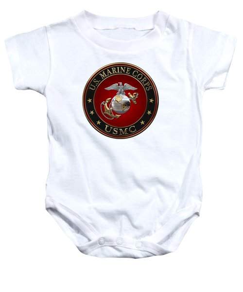 C O And Warrant Officer E G A Special Edition Over White Leather Baby Onesie