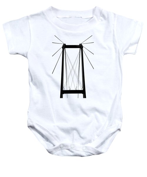 Cable Bridge Abstract Baby Onesie
