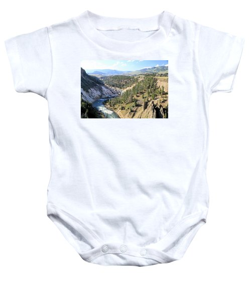 Calcite Springs Along The Bank Of The Yellowstone River Baby Onesie