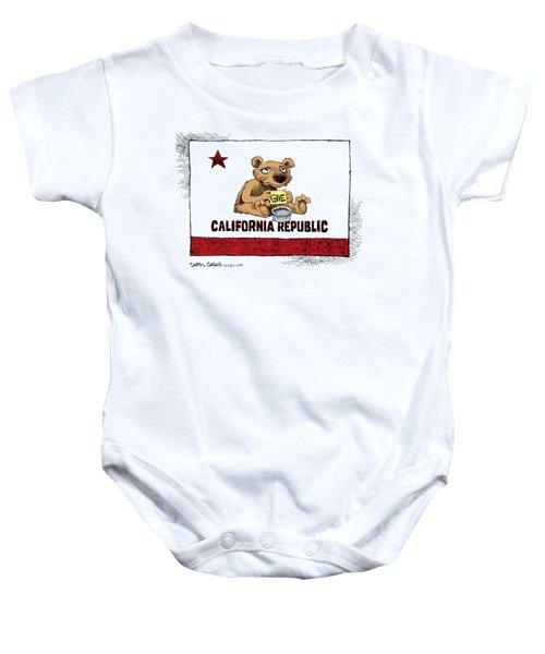 California Budget Begging Baby Onesie