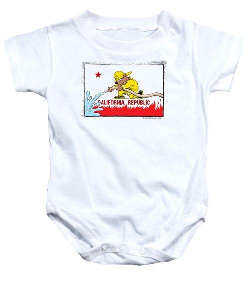 California Firefighter Flag Baby Onesie