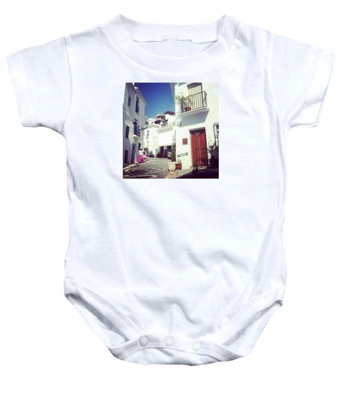 Calles De Frigiliana, Pueblo Blanco De Malaga - Spain Baby Onesie