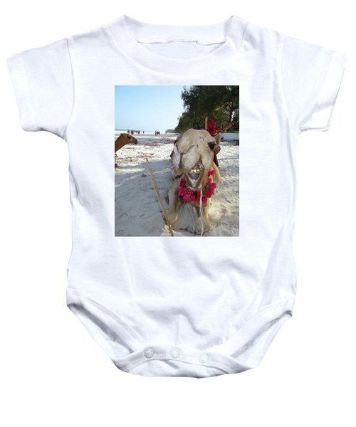 Camel On Beach Kenya Wedding2 Baby Onesie