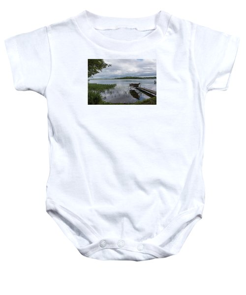 Camelot Island From Wilderness Point Baby Onesie by Gary Eason
