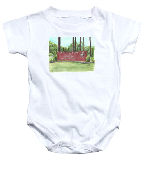Camp Lejeune Welcome Baby Onesie