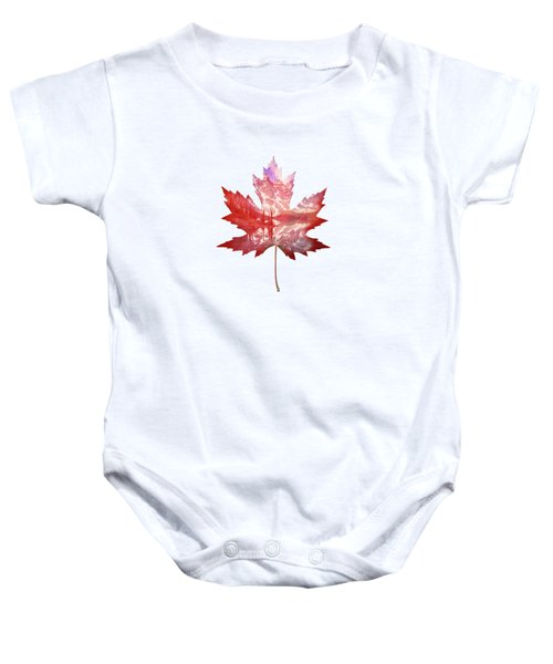 Canada Maple Leaf Baby Onesie