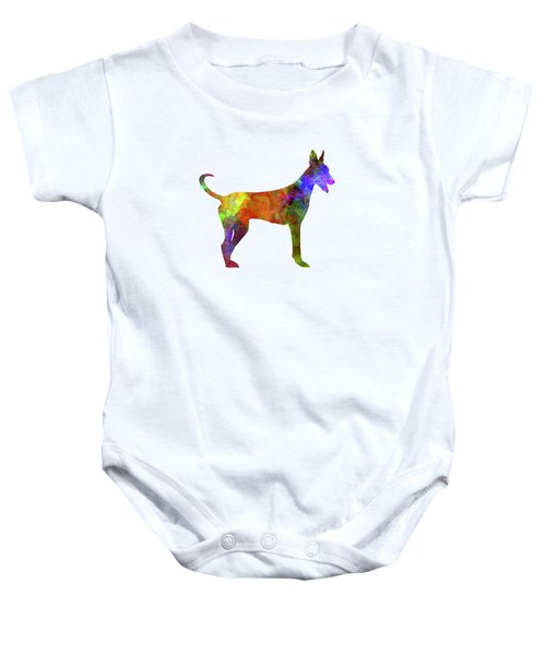 Canarian Warren Hound In Watercolor Baby Onesie by Pablo Romero