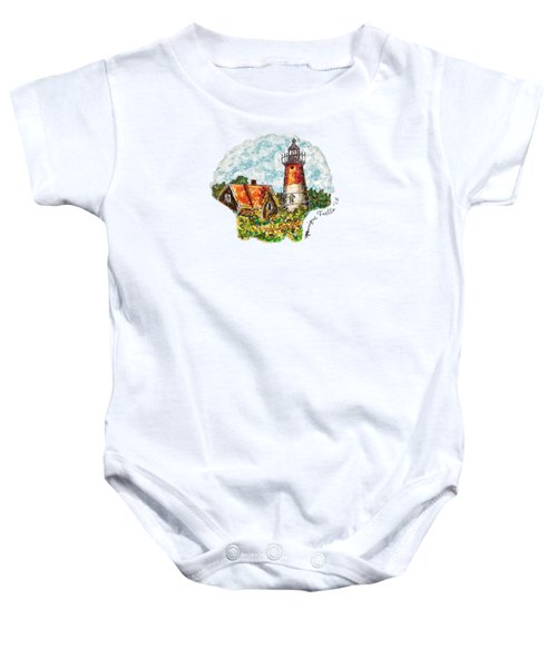 Cape Cod Lighthouse Baby Onesie