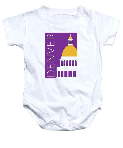 Denver Capitol/purple Baby Onesie
