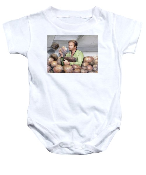 Captain Kirk And Tribbles Baby Onesie