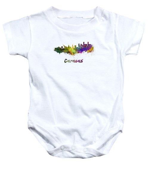 Caracas Skyline In Watercolor Baby Onesie