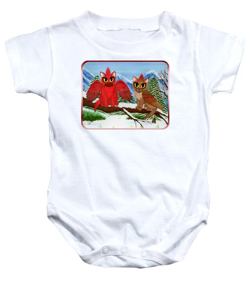 Cardinal Cats Baby Onesie