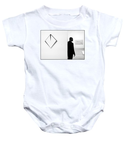 Carmen Herrera At The Whitney 1 Bw Baby Onesie