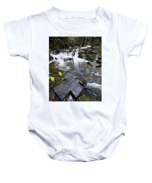 Cascade Falls Stream, Farmington, Maine  -30329 Baby Onesie