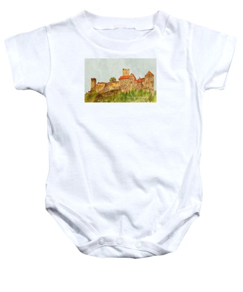 Castle Hardegg Baby Onesie by Angeles M Pomata