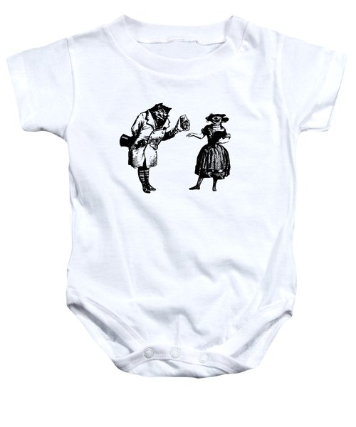 Cat And Mouse Grandville Transparent Background Baby Onesie
