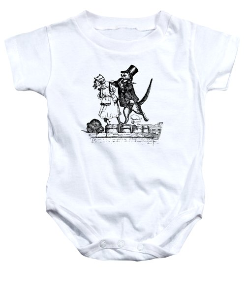 Cat Love Grandville Transparent Background Baby Onesie